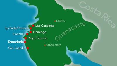 Tamarindo Beach Town Map