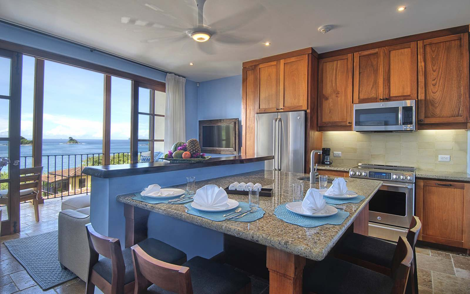 Beautifully appointed and fully equipped, all with ocean views.
